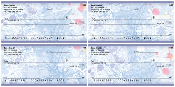 Frosty Winter Ice Personal Checks