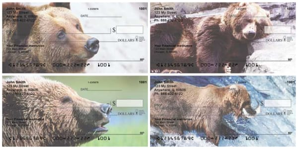 Grizzly Bears Personal Checks