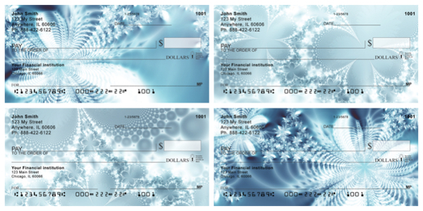 Icy Abstracts Personal Checks