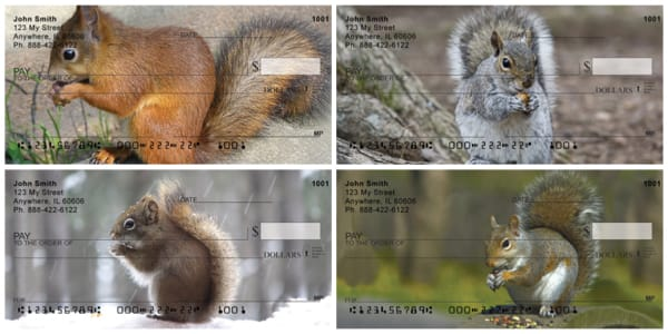 Nuts for Squirrels Personal Checks