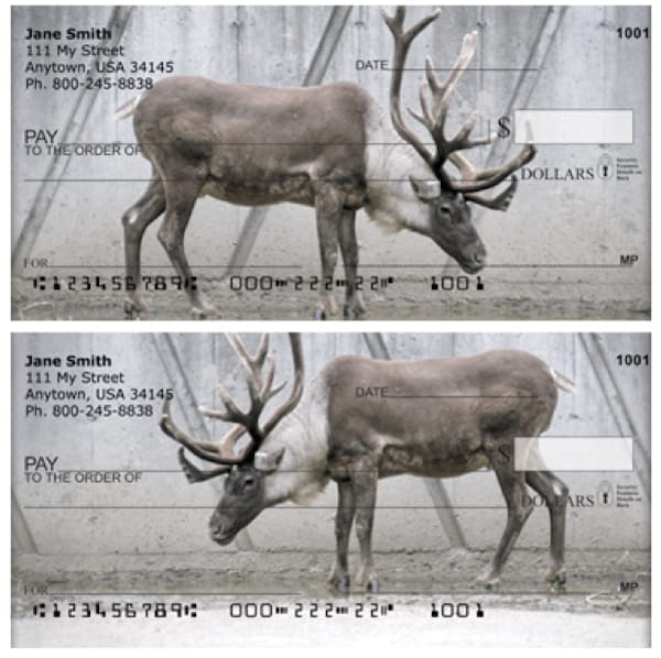 Rudolph Reindeer Personal Checks