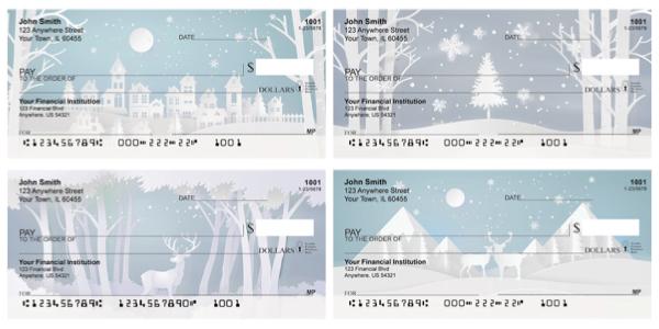 Silent Snowscapes Personal Checks