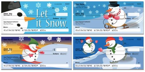 Snowman Personal Checks