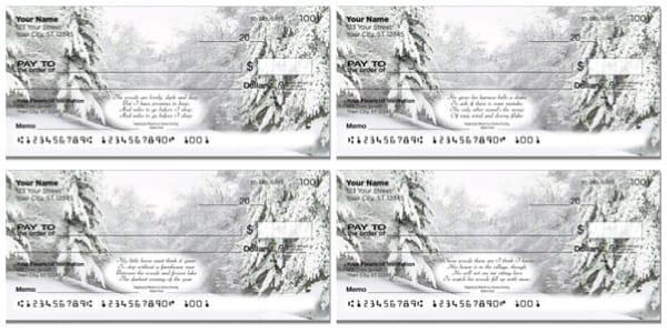 Snowy Evening Personal Checks