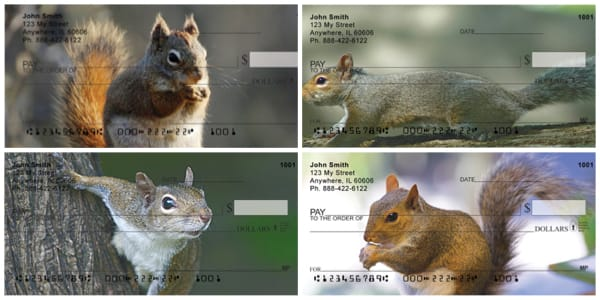 Squirrel Antics Personal Checks