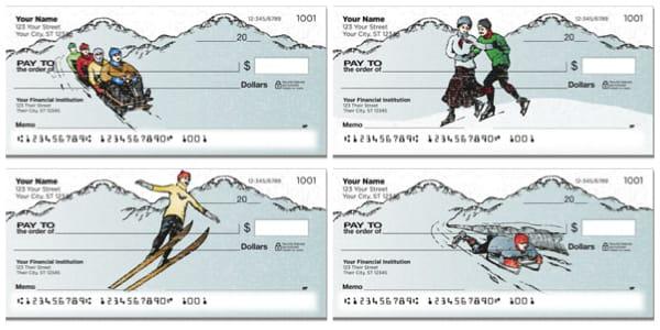 Vintage Winter Sports Personal Checks