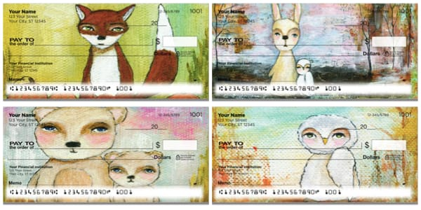Whimsical Creatures Personal Checks