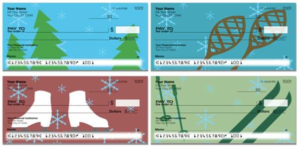 Winter Fun Personal Checks