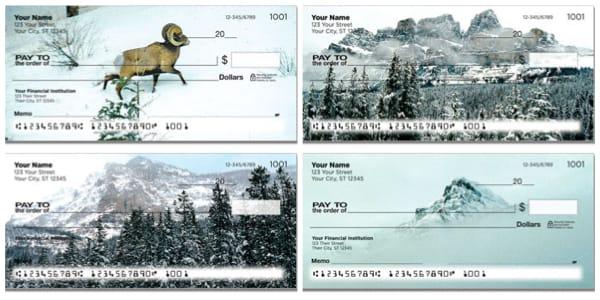 Winter Mountain Personal Checks