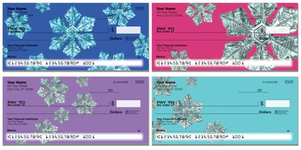 Wintry Flakes Personal Checks