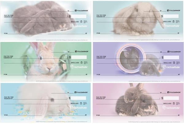 Rachael Hale Bunnies Personal Checks