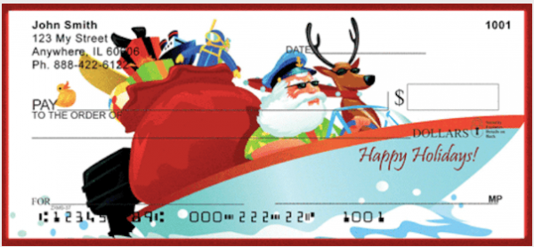 Boater's Holiday Greetings Personal Checks