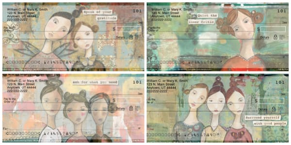 Celebrate Yourself Female Empowerment Personal Checks