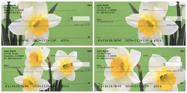 Dreamy Daffodils Personal Checks