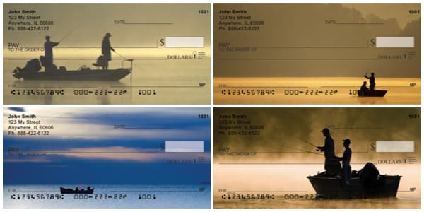 Fishing Buddies in Boats Personal Checks