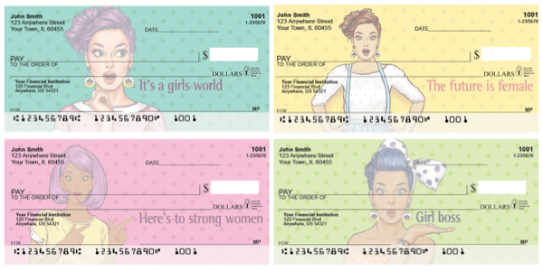 Girl Boss Female Empowerment Personal Checks
