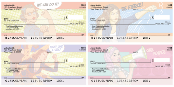 Girl Power Female Empowerment Personal Checks
