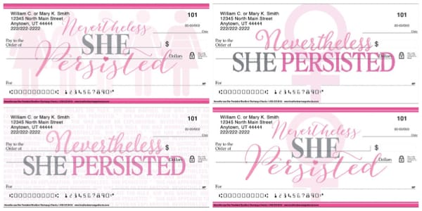 Nevertheless She Persisted Personal Checks