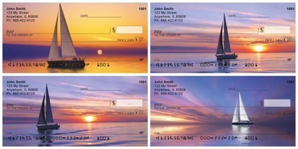 Sailboats At Sunrise Personal Checks