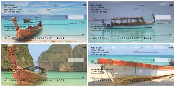 Scenic Tropical Boats Personal Checks