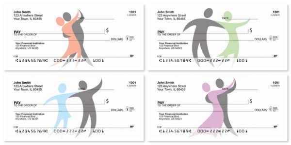 Dancer Silhouette Personal Checks