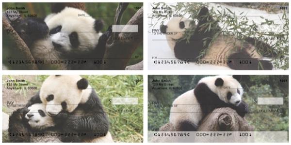 Panda Bear Personal Checks