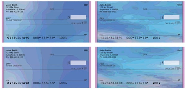 Pastel Waters Personal Checks