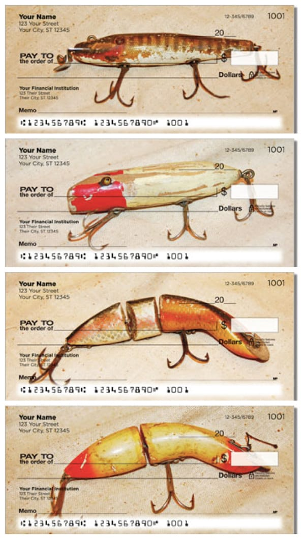 Antique Fishing Lure Personal Checks