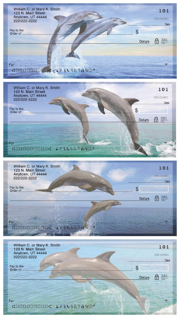 Dancing Dolphins Personal Checks