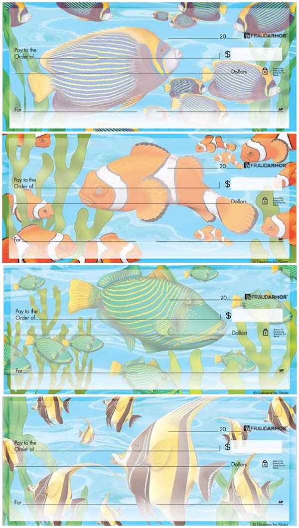 Exotic Fish Checks Designed by Shan