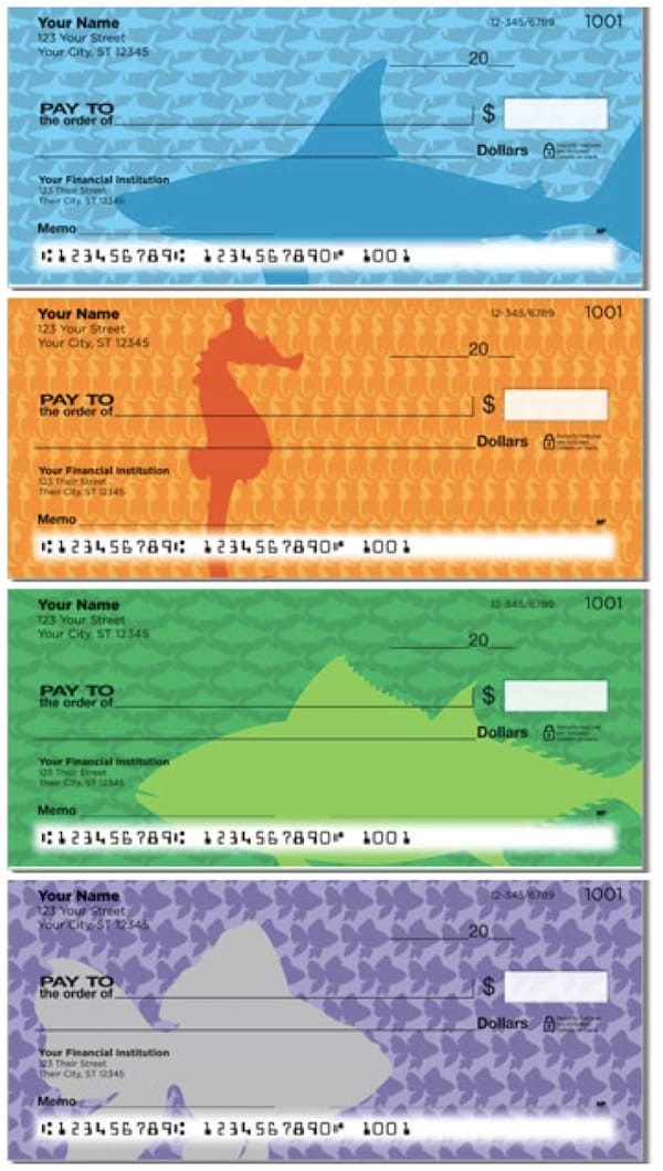 Fish Pattern Personal Checks