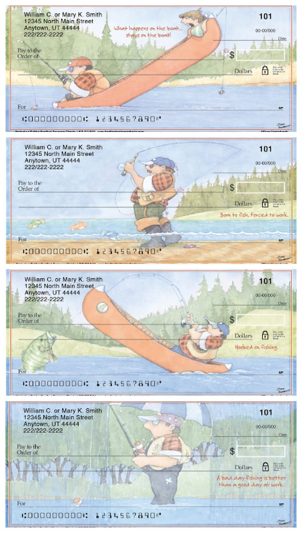 Hooked on Fishing Personal Checks