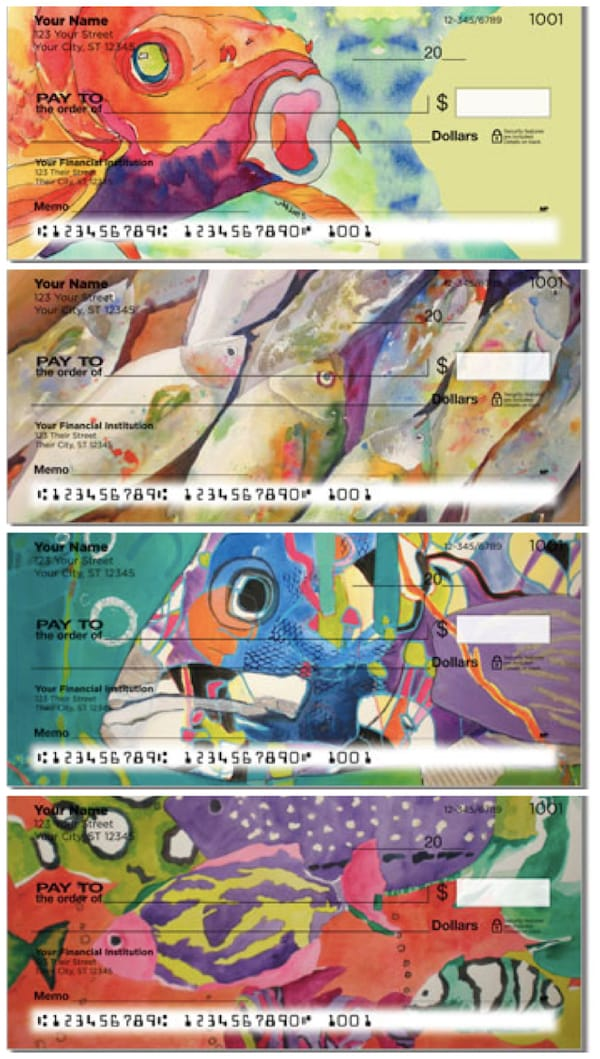 Kay Smith Artistic Fish Personal Checks