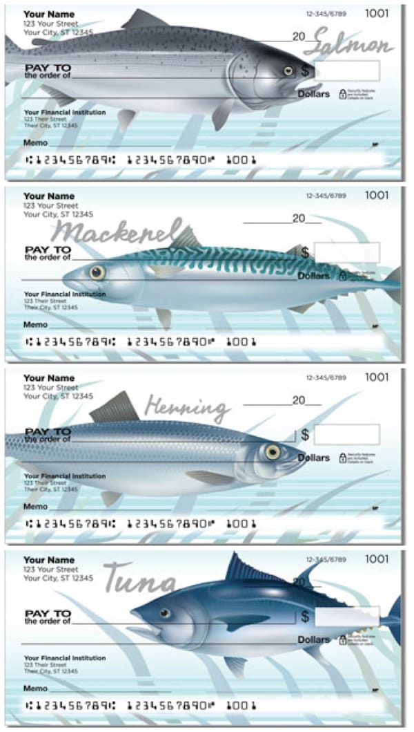 Ocean Fish Personal Checks