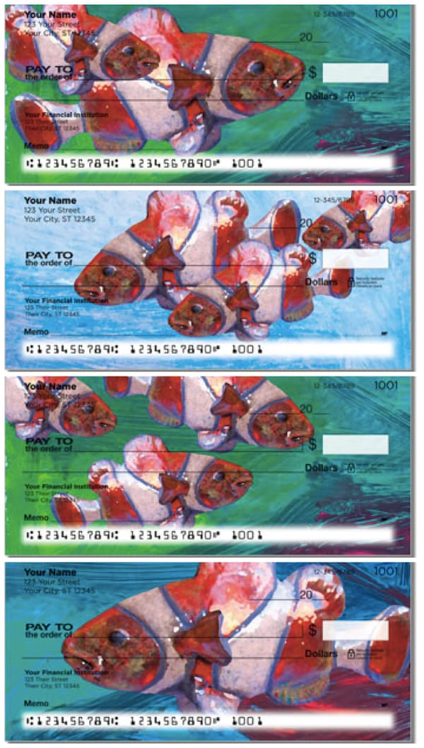 Painted Clown Fish Personal Checks