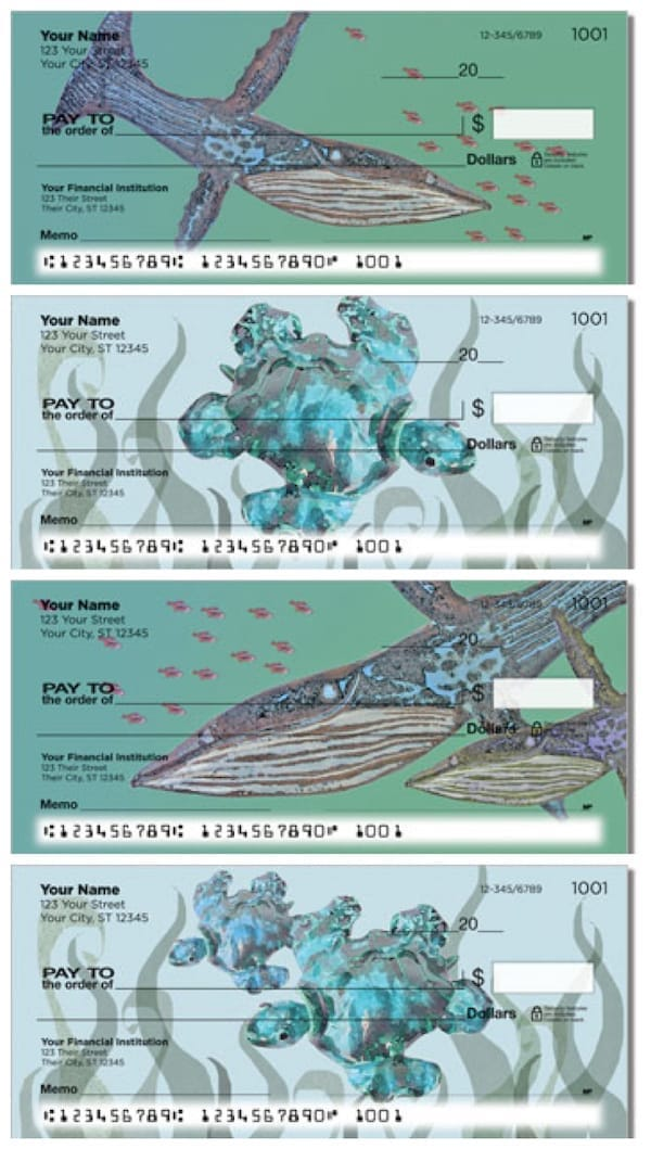 Whale and Turtle Personal Checks