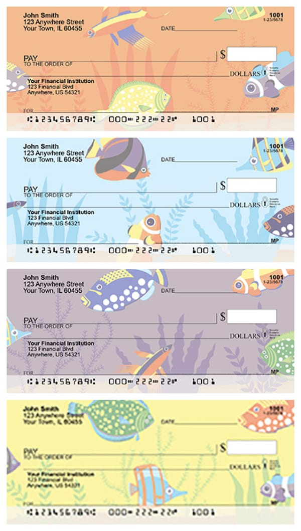 Whimsical Fish Checks