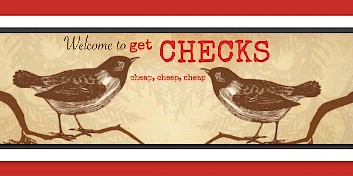 Welcome to GetChecksCheap