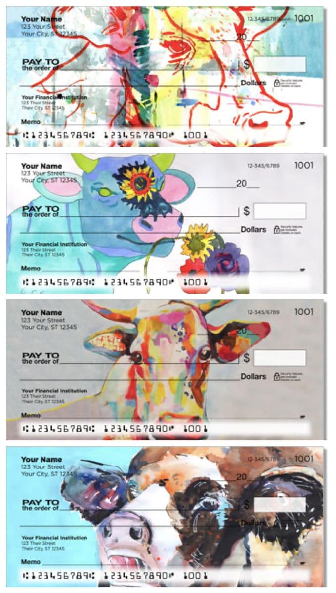 Crazy Cows Personal Checks