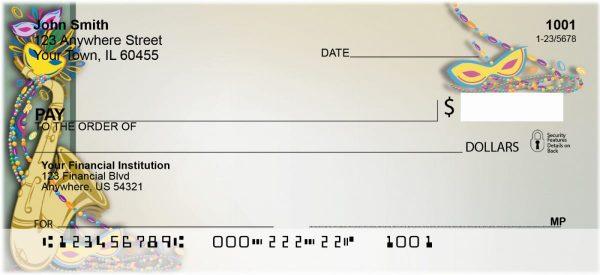 Mardi Gras Blues Personal Checks